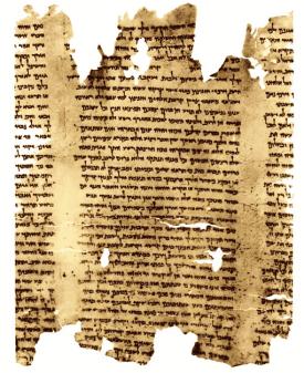 Una porción del Gran Rollo de Isaías de los Manuscritos del Mar Muerto
